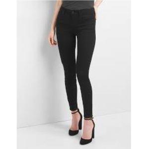 GAP Tall Curvy True Skinny Black High 9 Rise Jeans